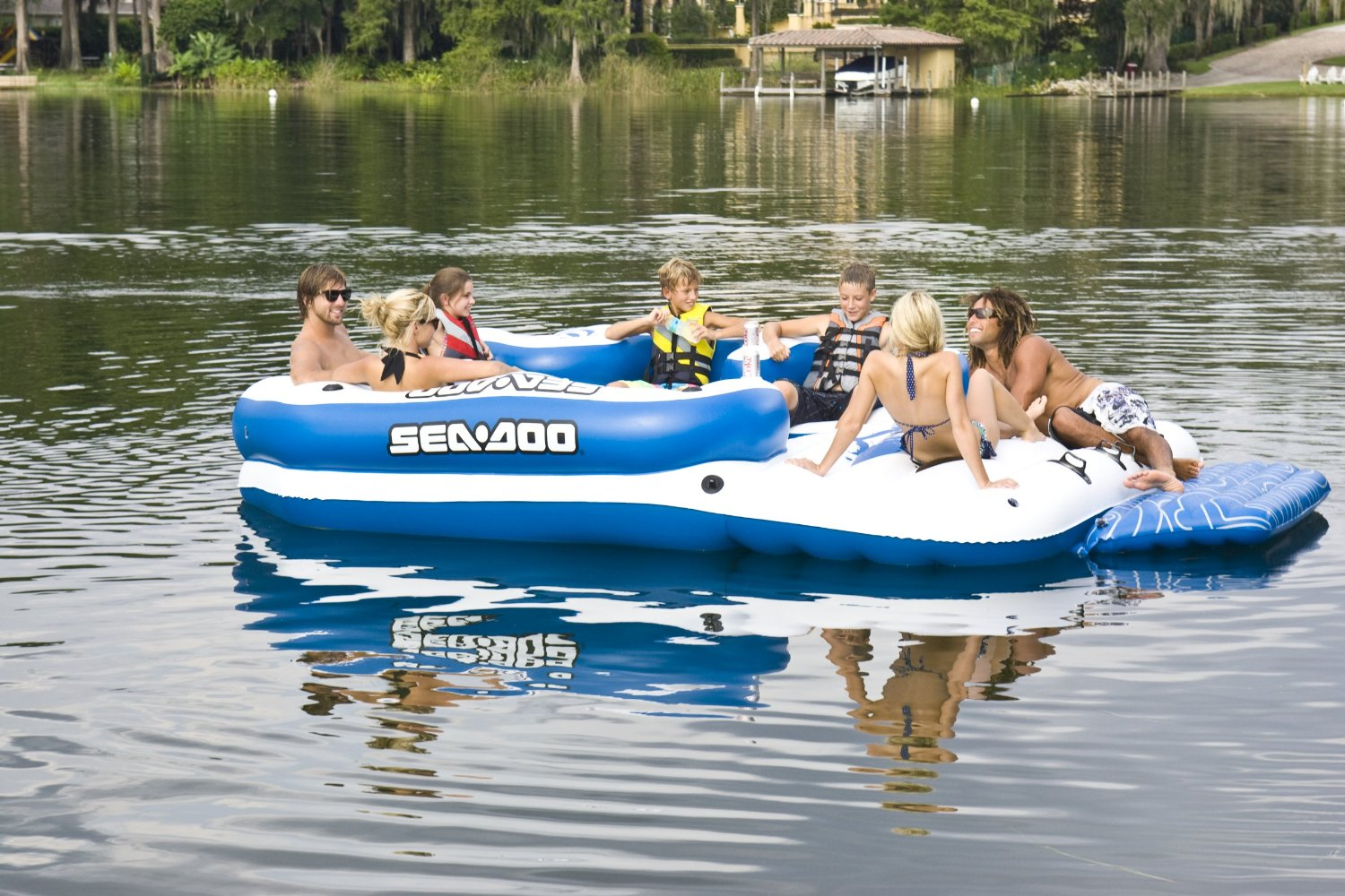8 Person Inflatable Island With Speakers Inflatable